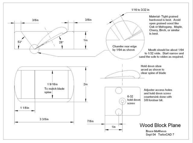 wooden bench plane plans