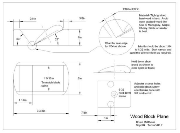 woodworking plans hand plane