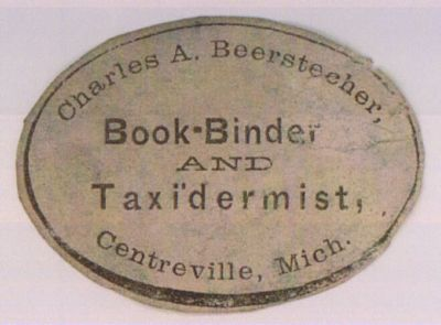 bookbinder and taxidermist