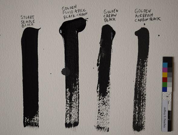 Black Acrylic Paint Higher Viscosity Than Other Paint