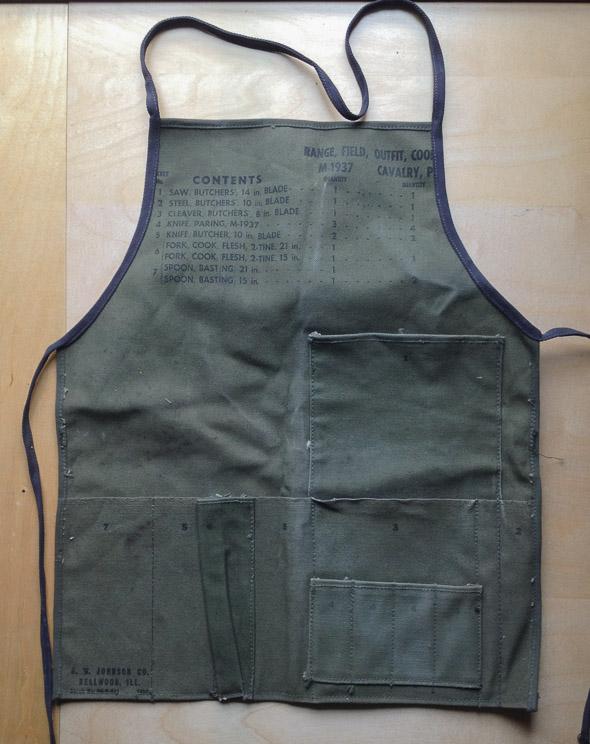 bookbinding apron – Jeff Peachey